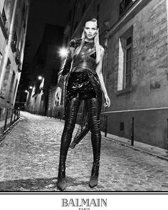 "#BazaarExclusive Your exclusive first look at @balmain's Fall 2017 campaign photographed by the brand's creative director @olivier_rousteing. Dedicated to Paris this ""never-ending night"" features #BalmainArmy Natasha Poly Laura Stone Presley Gerber and Ton Heukels photographed all over the streets of the French capital. Speaking to Harper's Bazaar US about the campaign Rousteing explained that he wanted ""to have the images directly reflect my vision of Balmains latest creations as well as my…"