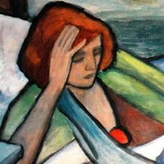 gabrielle munter paintings | Gabriele Munter, Malade (Krank) 1917