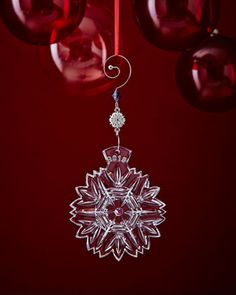 Snowflake Wishes 2015 Christmas Ornament by Waterford at Neiman Marcus.