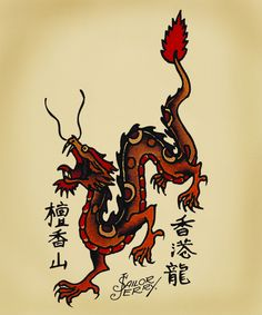 sailor jerry dragon flash - Google Search