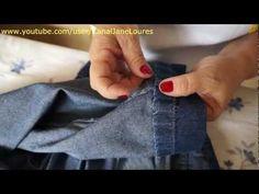 Fazendo barra em calça jeans | Cantinho do Video
