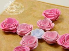 Quilled spiral roses