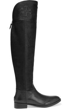 TORY BURCH SIMONE PANELED TEXTURED-LEATHER OVER-THE-KNEE BOOTS £275 http://www.theoutnet.com/product/781035