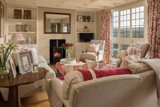 The living area is a light and spacious room to relax in Cottage Living Room Small, Small Living Rooms, Home Living Room, Living Room Designs, Living Area, Modern Living, English Living Rooms, Cottage Lounge, Cottage Porch