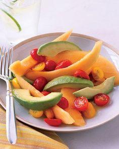 Cantaloupe and Avocado Salad with Honey-Lime Dressing Recipe