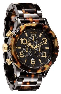 Free shipping and returns on Nixon 'The 42-20 Chrono' Watch at Nordstrom.com. Three chronograph eyes and a date window detail the dial of a handsome faux-tortoiseshell watch with a notched bezel. The matching bracelet lends a substantial finish.