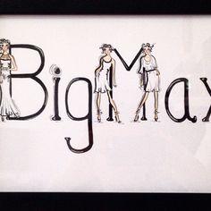 Illustration BigMax business card by Susan Chung, Instagram @susanchungfashion, Facebook, https://www.facebook.com/pages/Susan-Chung-Illustrations/331104350407447?ref=hl