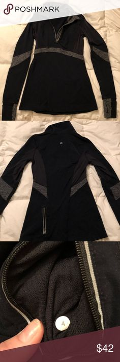 Lululemon 1/4 Zip Comfy pullover good from work outs and in great condition! lululemon athletica Tops Sweatshirts & Hoodies
