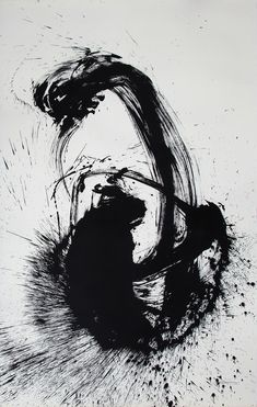 Check out Qin Feng 秦风, Desire Scenery/慾望風景系列, No. 2210 From Vazieux Black And White Painting, Black And White Abstract, White Art, Vegetal Concept, Art Gallery Paris, Sumi E Painting, Japan Art, Dark Fantasy Art, Calligraphy Art