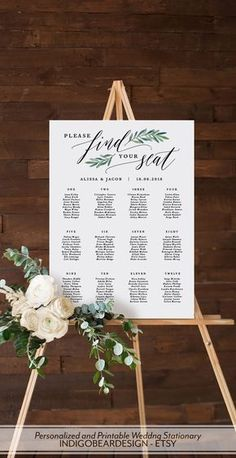 """Seating Chart Wedding, Printable Seating Plan Sign, Find Your Seat Awaits Template, Wedding Table Plan, Alphabetical Numerical Absolutely gorgeous """"find your seat"""" wedding idea !Absolutely gorgeous """"find your seat"""" wedding idea ! Wedding Decorations On A Budget, Wedding Themes, Wedding Signs, Wedding Ceremony, Our Wedding, Dream Wedding, Wedding Ideas, Trendy Wedding, Elegant Wedding"""