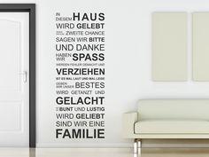 Das Wandtattoo In diesem Haus hier entdecken. ❤ Spitzenqualität aus Deutschland | schnelle Lieferung | portofrei (D) bei WANDTATTOO.DE bestellen!