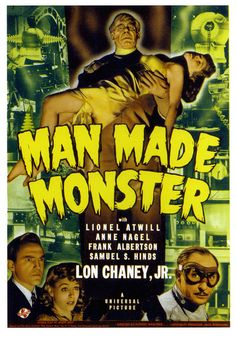 Man Made Monster, 1941. #vintage #movies #posters #1940s #Halloween