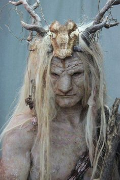 Faun, forest guardian, forest creature in Celtic mythology Forest Creatures, Magical Creatures, Fairytale Creatures, Celtic Mythology, Pan Mythology, Special Effects Makeup, Mythological Creatures, Gods And Goddesses, Fantasy World
