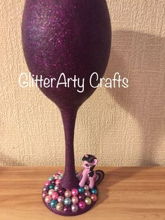 Unicorn Glitter Wine Glass 🦄💜🦄