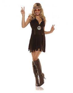 Underwraps Sunshine Sexy 70's Hippie Adult Womens Halloween Costume Multi-color