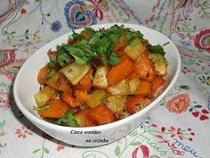 Cinco sentidos na cozinha: Abóbora e batata doce assadas no forno