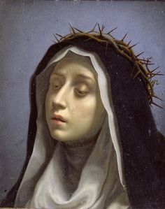 St. Catherine of Siena  Dolci, Carlo 1665-1670, Dulwich Picture Gallery, London