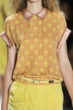 Palm Tree Illustration Print is Trendy 4 Spring Summer 2012 Fashion     Retro Look details @    Jill Stuart Spring - Summer 2012 .‎