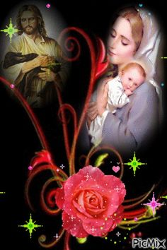 Jesus And Mary Pictures, Mother Mary Images, Images Of Mary, Pictures Of Jesus Christ, Mary And Jesus, Jesus Mother, Blessed Mother Mary, Blessed Virgin Mary, Jesus Christ Painting