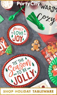 'Tis the season to host parties. Shop holiday tableware now available at Party City.