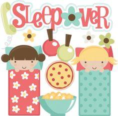 Sleepover SVG files for scrapbooking sleepover clipart cute sleeepover clipart free svgs