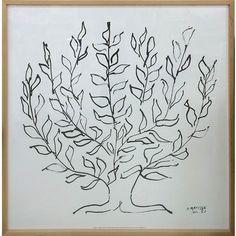「ポスター インテリア おしゃれ 北欧 カフェ アートパネル イラスト IHM-60625 Henri Matisse Le platane(Silkscreen) 送料無料」の商品情報やレビューなど。