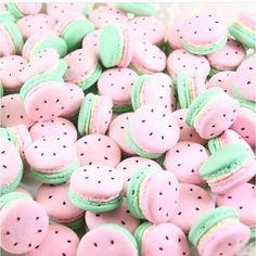 Sweet summer sugar! Watermelon macarons!