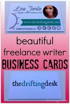 Looking for beautiful freelance writer business cards? Check out these easy-to-make business cards you can do yourself!