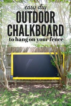 A super quick and simple project that will create hours an… DIY Fence chalkboard. A super quick and simple project that will create hours and hours of fun for your kids! Kids Outdoor Play, Outdoor Play Spaces, Kids Play Area, Backyard For Kids, Outdoor Fun, Outdoor Games, Small Garden Play Area Ideas, Baby Garden Ideas, Simple Backyard Ideas