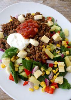 lindastuhaug | Tacosalat & heimelaga lompe-tacoskjell