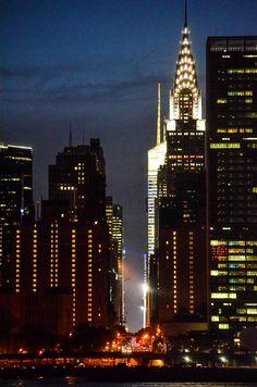Manhattan by night. New York, New York