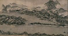 Amanohashidate Diagram (Kyoto National Museum) National Treasure of Japan 天橋立図(京都国立博物館) 日本の国宝