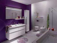 Decoración interior morado | Veamos a continuación estas hermosas fotos de decoración de baños ...