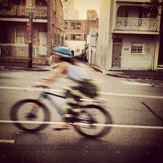 Moving cyclist. follow @jeroxie on instagram