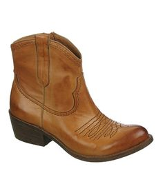 Look what I found on #zulily! Tan Leather Sandy Boot #zulilyfinds
