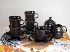 Retro / Vintage Coffee / Tea Serving Set (Mikasa Majorca Murano) | Trade Me