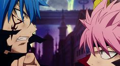 Mystogan and Natsu... even though his real name is Jellal, you just can't call him it because he'd always be Mystogan to Fairy Tail