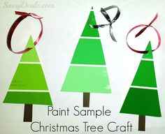 paint sample christmas tree ornament crafts for kids