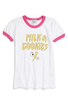 Wildfox 'Milk & Cookies' Graphic Tee (Big Girls)
