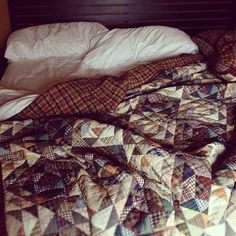 under the quilts...