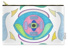 Carry-all Pouch featuring the drawing Eye Of The Cyborg by Sara LaMothe Disney Characters, Fictional Characters, Abstract Art, Fashion Accessories, Pouch, Eye, Drawings, Porch, Sketches