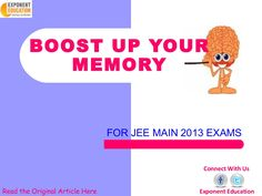 boost-up-your-memory by Exponent Education via Slideshare