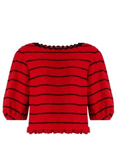 SONIA RYKIEL Boat-Neck Cotton-Blend Tweed Top. #soniarykiel #cloth #top