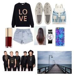 """""""Walking on a hot day with one direction:)"""" by leila-hussain ❤ liked on Polyvore featuring Jimmy Choo, Forever New, Topshop and Dolce&Gabbana"""