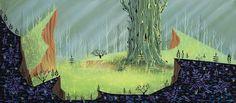 Never-Before-Seen Eyvind Earle 'Sleeping Beauty' Concept Art Headed to Auction | Cartoon Brew