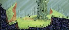 Never-Before-Seen Eyvind Earle 'Sleeping Beauty' Concept Art Headed to Auction | Cartoon Brew