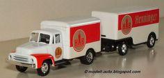 Mein Blog über Modellautos: Grell Modell LKW Lastwagen Anhänger Henninger Bräu China Decals