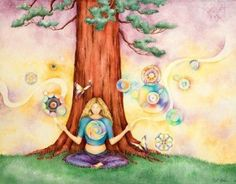 dessin femme arbre