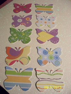 Paper punches  20 butterflies  by PaperCraftingByMandy on Etsy, $3.99