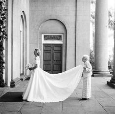 The sweetest thing I've seen all day. Great photo @whitedressesboutique! #momentsoverposes #bride #maidofhonor #moh